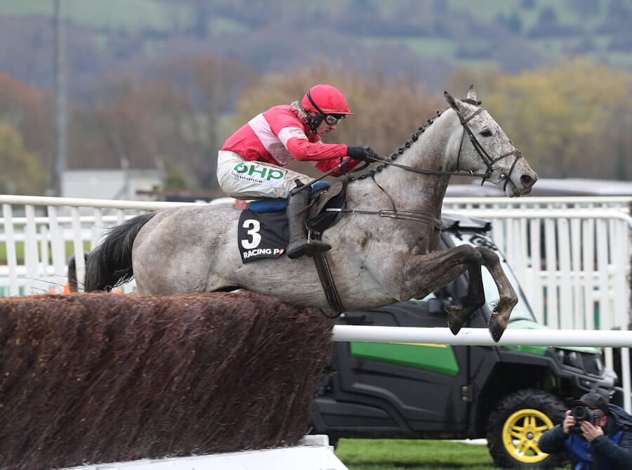 Cheltenham Tues 12 March 2019 Duc De Genievres ridden by Paul Townend jumping the last fence to win The Racing Post Arkle Challenge Trophy Photo.carolinenorris.ie