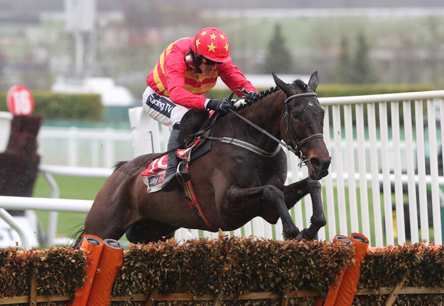 Cheltenham Tues 12 March 2019 Klassical Dream ridden by Ruby Walsh jumping the last to win The Sky Bet Supreme Novices Hurdle Race Photo.carolinenorris.ie