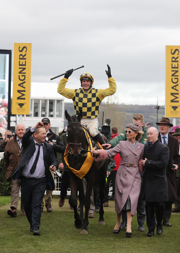 Cheltenham Fri 15 March 2019 Al Boum Photo ridden by Paul Townend being led in after winning The Magners Cheltenham Gold Cup by Ben Delmer, Marie Donnelly, David Casey and Willie Mullins Photo.carolinenorris.ie