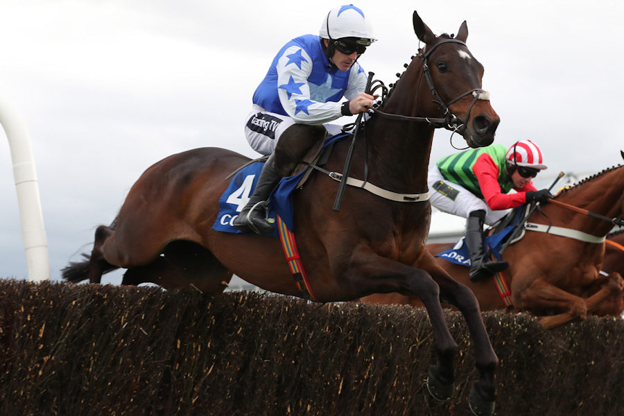 Punchestown Wed 1 May 2019 Kemboy ridden by Ruby Walsh, winner, at an early stage in The Coral Punchestown Gold Cup Photo.carolinenorris.ie