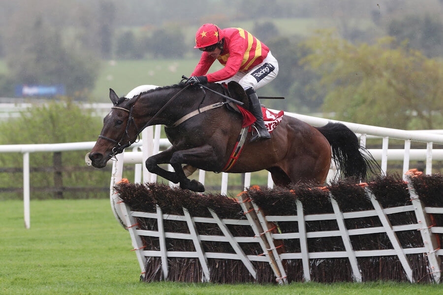 Punchestown Tues 30 April 2019 Klassical Dream ridden by Ruby Walsh jumping the last to win The Herald Champion Novice Hurdle Photo.carolinenorris.ie